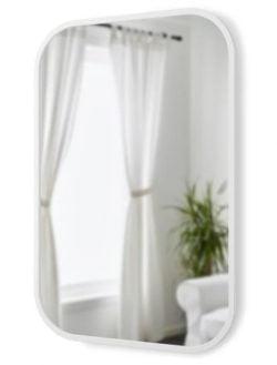 Nav Rektangel Spejl - Hvid