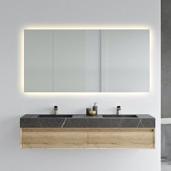 Premium Backlight badeværelses spejl, LED - lampeudtag