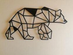 Bjørn illustration  i sort pulverlakeret stål