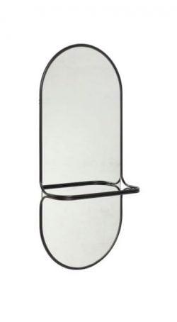 Spejl, Metal, Sort